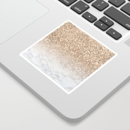 Sparkle - Gold Glitter and Marble Sticker