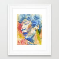 fitzgerald Framed Art Prints featuring Ella Fitzgerald by thirdfloorclub