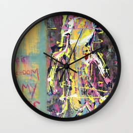 There is Freedom in My Lungs Wall Clock