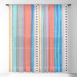 Polka Dots  and Colorful Fun Sheer Curtain
