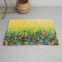 NATURE'S LIVING ROOM - Gorgeous Bright Bold Nature Wildflower Field Landscape Abstract Art New 2012 Rug