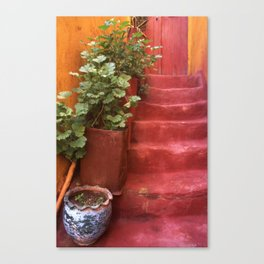 Blue, Red and Green Canvas Print