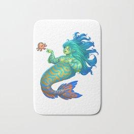 Mandarin Mermaid Bath Mat