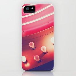 Pink Neon Glow iPhone Case