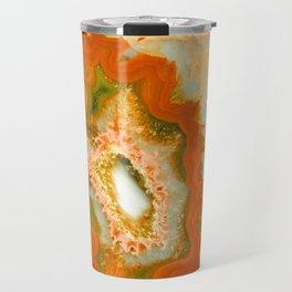Orange Green Agate #1 #gem #decor #art #society6 Travel Mug