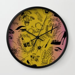 Queer Femme Fatale Wall Clock