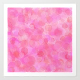 Pink Blush Dots Pattern Art Print