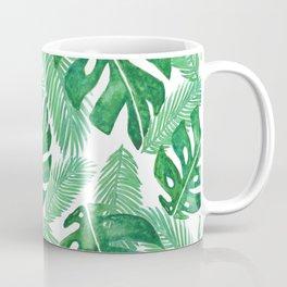 Tropical Leaf Pattern Coffee Mug