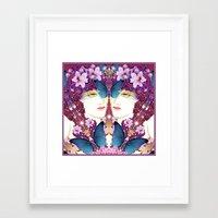 nouveau Framed Art Prints featuring Nouveau by Kundalini Arts