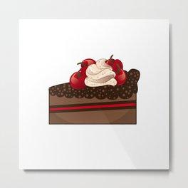 Cherry cake slice Metal Print