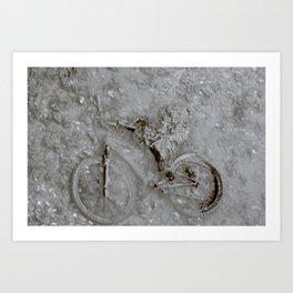 Flat Tire Art Print