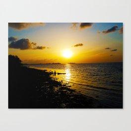 Seashore Serenity at Sunset Canvas Print