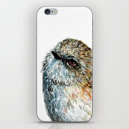 Mr Riroriro, the New Zealand Grey Warbler iPhone Skin
