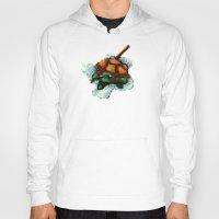 ninja turtle Hoodies featuring Baby Ninja Turtle - PixelArt by Tokka Train