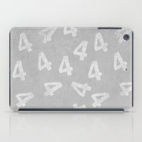 number iPad Cases featuring Number Four by sinonelineman