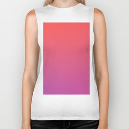SPECIAL MOMENT - Minimal Plain Soft Mood Color Blend Prints Biker Tank