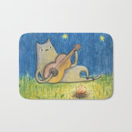 Campfire Cat Bath Mat