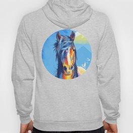 Horse Beauty - colorful animal portrait Hoody