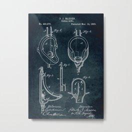 1983 - Urinal bowl patent art Metal Print