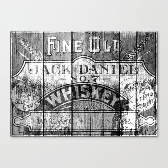 Jack Daniel - Vintage Wiskey Canvas Print