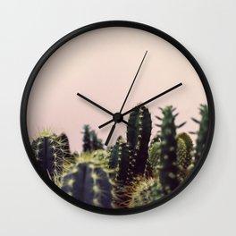 Cactus pink Wall Clock