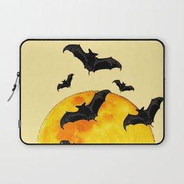 BLACK FLYING BATS FULL MOON ART Laptop Sleeve