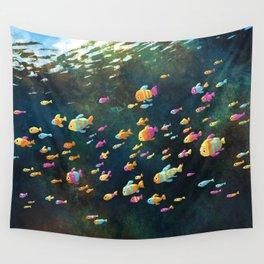 Many Many Fish Wall Tapestry
