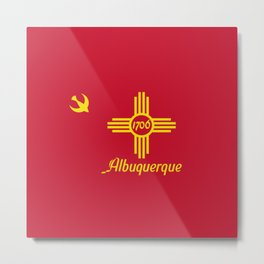 Flag of Albuquerque Metal Print