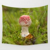 mushroom Wall Tapestries featuring Mushroom by Mirella von Chrupek