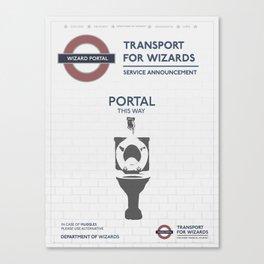 Wizard Toilet Portal Sign Canvas Print