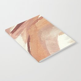 Aly: minimal | pinks | white | black | mixed media | abstract | ink | watercolor | wall art Notebook