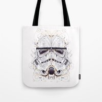 stormtrooper Tote Bags featuring stormtrooper by yoaz