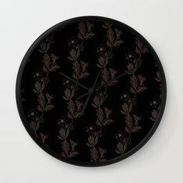 Oak & Hellebore Pattern Wall Clock