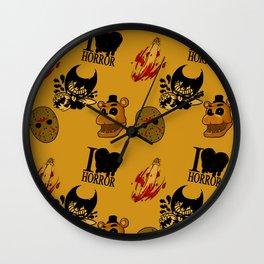 I <3 HORROR Wall Clock