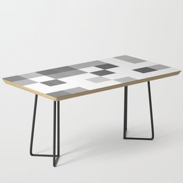 Gray Scale In Pixels Coffee Table