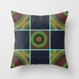 Earthy Denim Print Throw Pillow