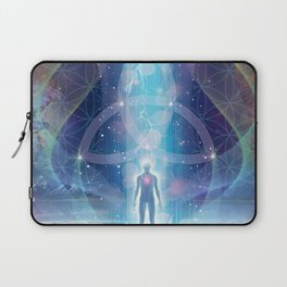 """""""A Spark of the Creator!"""" - Trinity Laptop Sleeve"""