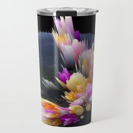 flowers 3d abstract digital painting Travel Mug