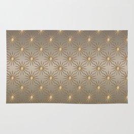 Shiny Golden Stars Rug