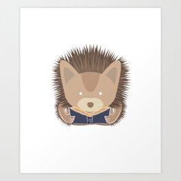 I'm Not Anti Social Readers Bookworms Books Hedgehog Animal Lovers Gift Art Print