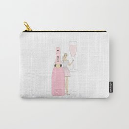 Rose Champagne Fashion Girl Blonde Carry-All Pouch