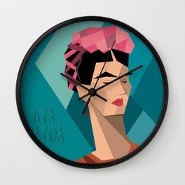 Frida Kahlo Cubism Wall Clock
