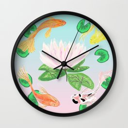 Happy Koi Wall Clock