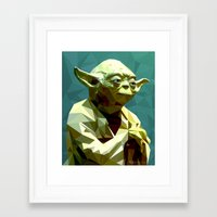 yoda Framed Art Prints featuring Yoda by Whitney Silva