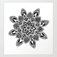 zentangle Art Prints featuring Zentangle by Cady Bogart