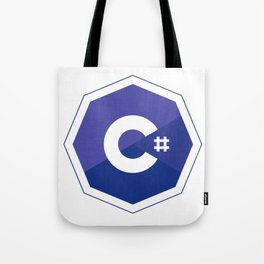 c# developers logo dot net Tote Bag