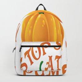 stop starring at my pumpkins halloween pumpkins Backpack