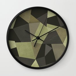 Black shabby green patches of the skin . Wall Clock