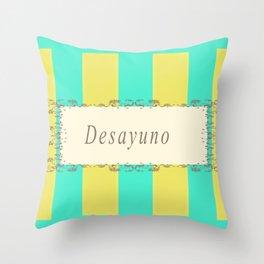 Desayuno Antique Throw Pillow