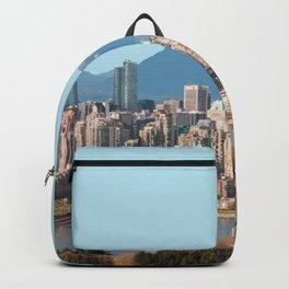 Vancouver Skyline, Canada Travel Artwork Backpack